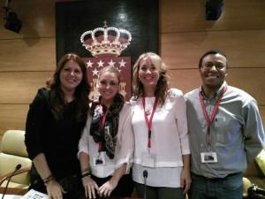 Con Eva Borox en la asamblea de Madrid