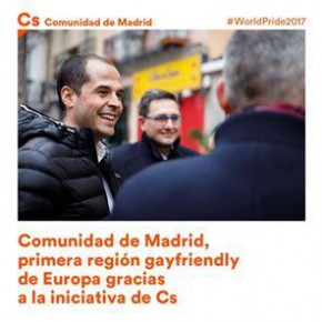 C's Rivas defiende políticas favorables de igualdad y reconocimiento a favor del colectivo LGTBI