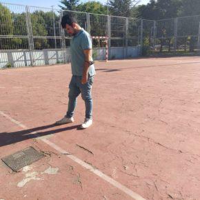 Ciudadanos (Cs) Rivas critica el deterioro de varias pistas deportivas municipales